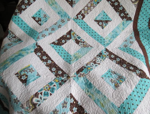 quilt with big blocks using jelly roll