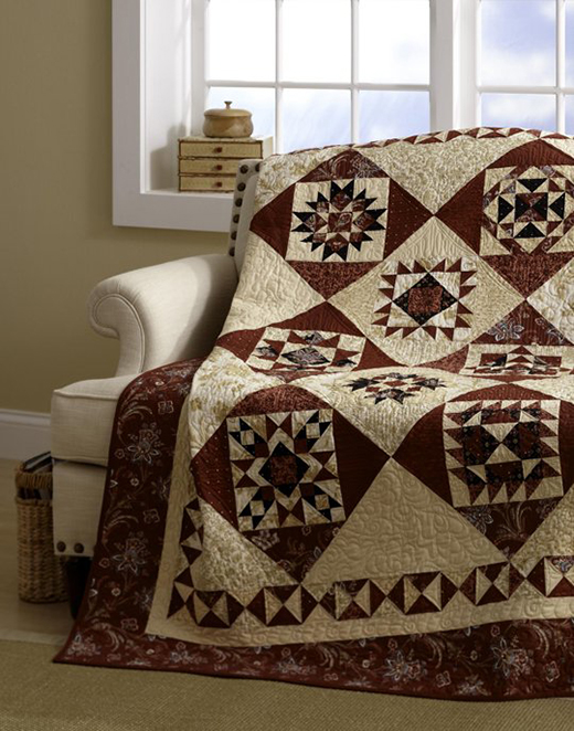 """""""Warm and Cozy"""" Free Mystery Quilt Pattern designed by Monique Dillard of Open Gate Quilts from"""