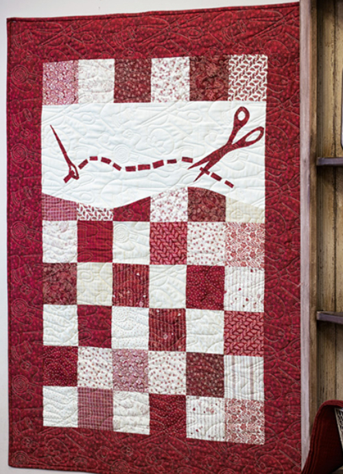 Charm Pack wall quilt sewing notions theme