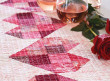 Hearts table runner batiks