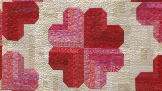 Judy Martins Heart quilt