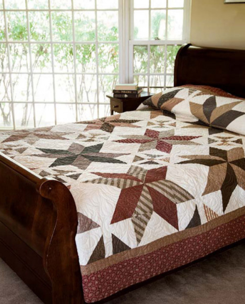 Layer Cake quilt pattern Dashing Stars Quilting Company