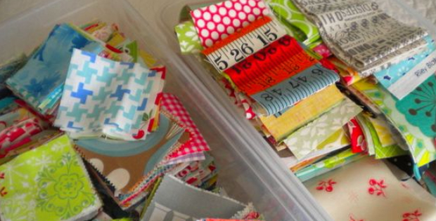 Quilting Fabric Scrap Storage And With Scraps Ready To Use