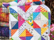 Spring quilt Promise of Spring fabric scrap quilt