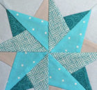 Star quilt block fabric and piecing tututorial