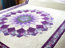 The Quick And Easy Giant Dahlia Quilt Step by Step