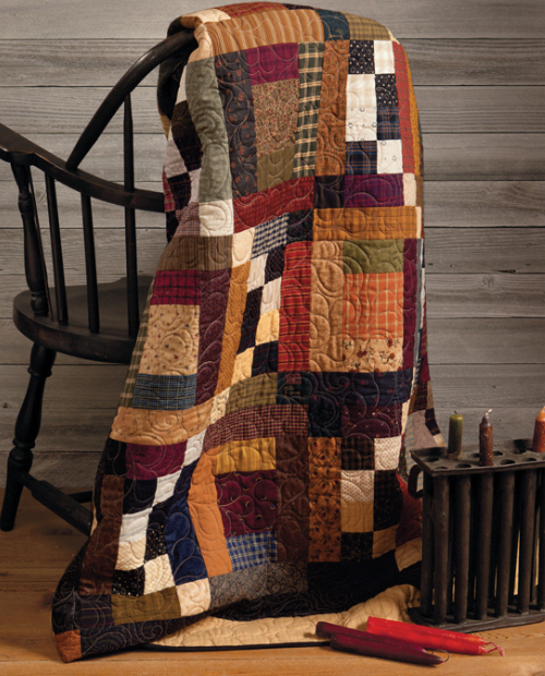 country style scrappy quilt That Patchwork Place