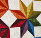 geometric fabric Quick Star Quilts Jan Krentz
