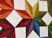 geometric fabric Quick Star Quilts Jan Krentz