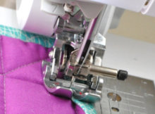 how to use a walking foot for quilting