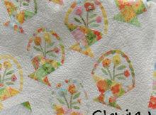 spring flower basket quilt