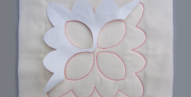 walking foot quilting with freezer paper