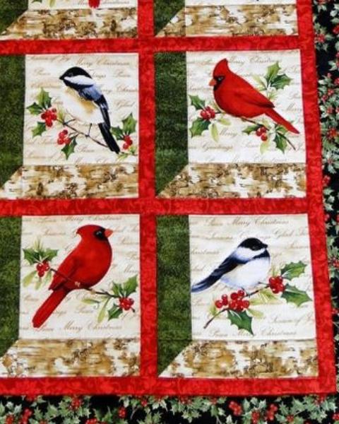 Create Your Own Bird Garden In This Window Pane Wall Quilt