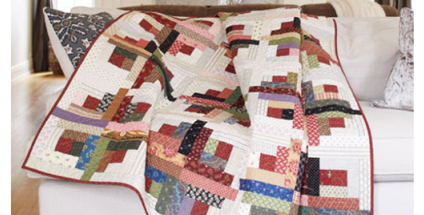How To Make A Sunshine And Shadows Log Cabin Quilt Quilting Cubby