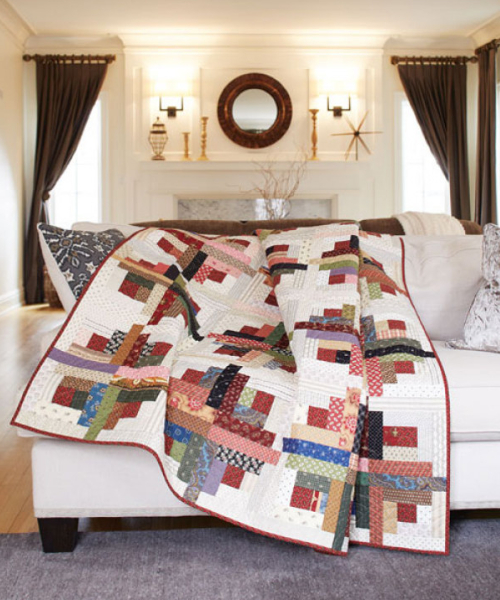 How To Make An Easy Sunshine And Shadows Log Cabin Quilt