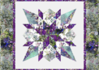 Star wall quilt using floral batiks