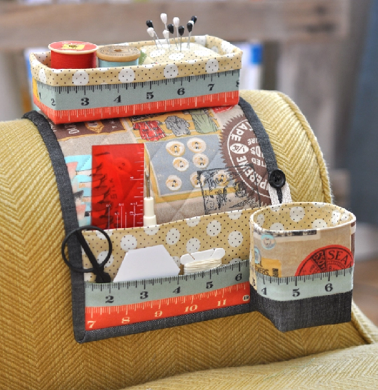 Make An Armchair Sewing Caddy That Never Falls Down Quilting Cubby