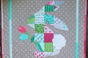 rabbit mini quilt