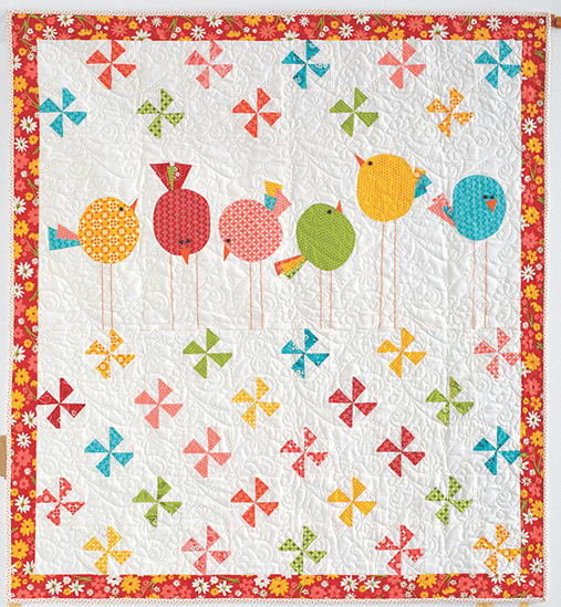 Birdies and Wormies Baby Quilt