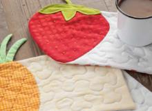fruit mug rugs strawberry pineapple watermelon