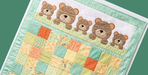 Sweet Teddy Bear Quilt For Baby S Crib Quilting Cubby